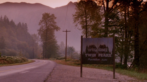 twin peaks sign television